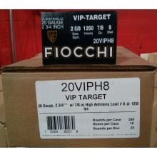 "20 GAUGE FIOCCHI 2-3/4"" #8 VIP TARGET LOAD (25 ROUNDS)"