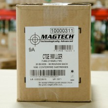 9MM LUGER MAGTECH 115 GRAIN FMJ (1000 ROUNDS)