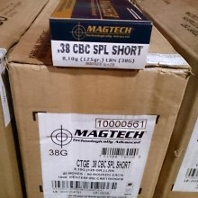.38 SPECIAL SHORT MAGTECH 125 GRAIN LRN (50 ROUNDS)