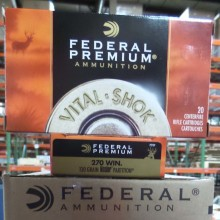 270 WIN FEDERAL VITAL-SHOK 130 GRAIN NOSLER PARTITION SP (20 ROUNDS)