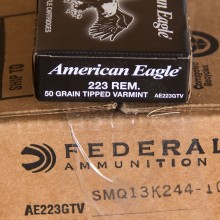 223 REM FEDERAL AMERICAN EAGLE 50 GRAIN POLYMER TIPPED (20 ROUNDS)