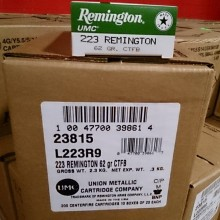 .223 REMINGTON UMC 62 GRAIN CTFB (200 ROUNDS)