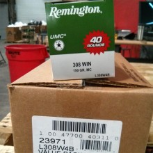 .308 WINCHESTER REMINGTON UMC 150 GRAIN GRAIN MC (40 ROUNDS)
