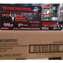 243 WIN WINCHESTER POWER MAX BONDED 100 GRAIN HP (20 ROUNDS)