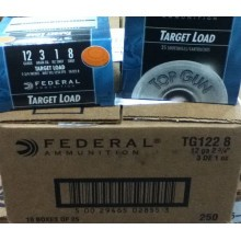 "12 GAUGE FEDERAL TARGET LOAD 2 3/4"" 1 OZ. #8 SHOT (250 ROUNDS)"
