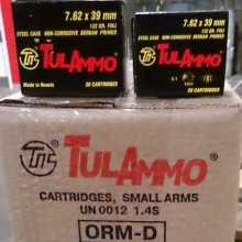 7.62x39MM TULA 122 GRAIN FULL METAL JACKET (1000 ROUNDS)