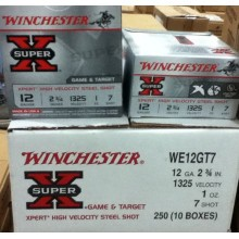 "12 GAUGE WINCHESTER SUPER-X 2-3/4"" #7 STEEL SHOT (25 ROUNDS)"