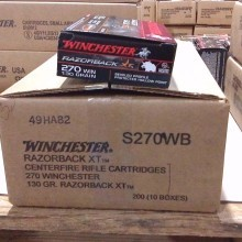 270 WIN WINCHESTER RAZORBACK XT 130 GRAIN HOLLOW POINT (20 ROUNDS)