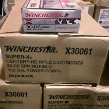 .30-06 SPRINGFIELD WINCHESTER SUPER-X 150 GRAIN SP (20 ROUNDS)