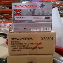 30-30 WINCHESTER SUPER-X 150 GRAIN JHP (20 ROUNDS)