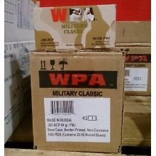 380 AUTO WOLF MILITARY CLASSIC 94 GRAIN FULL METAL JACKET (1000 ROUNDS)