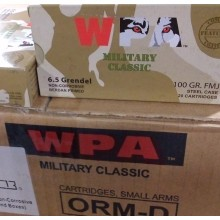 6.5MM GRENDEL WOLF 100 GRAIN FMJ (500 ROUNDS)
