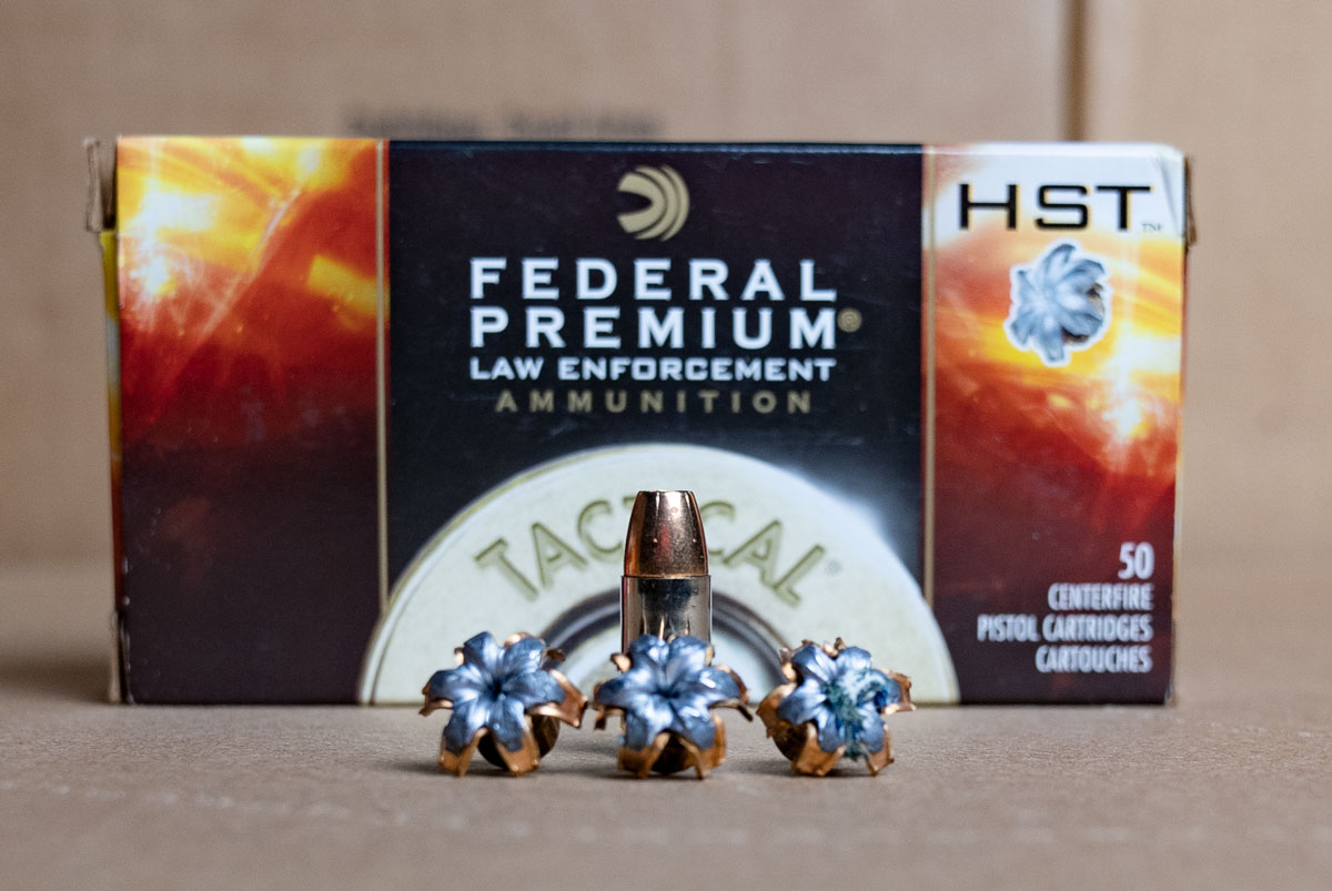 expanded Federal HST 9mm ammo
