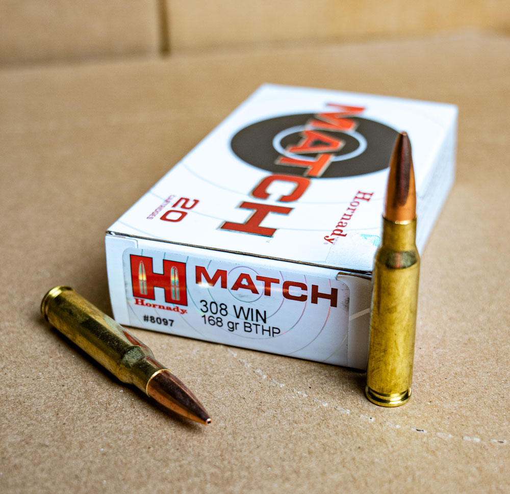 Box of Hornady Match .308 ammo