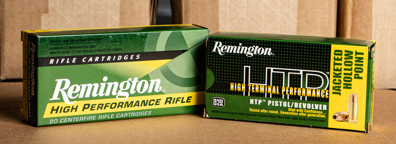 Remington ammo boxes
