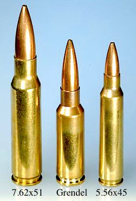 6.5 Grendel Ammunition compared to 7.62x51 and 5.56x45