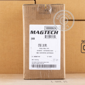 Photo of 38 Special Lead Wadcutter ammo by Magtech for sale at AmmoMan.com.