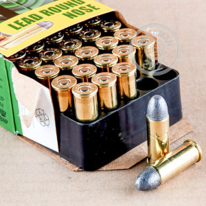 A photograph of 50 rounds of 246 Grain 44 Special ammo with a Lead Round Nose (LRN) bullet for sale.