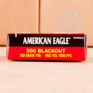 Image of the 300 AAC BLACKOUT FEDERAL AMERICAN EAGLE 150 GRAIN FMJ (500 ROUNDS) available at AmmoMan.com.