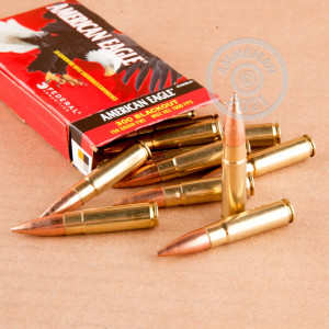 Photograph showing detail of 300 AAC BLACKOUT FEDERAL AMERICAN EAGLE 150 GRAIN FMJ (500 ROUNDS)