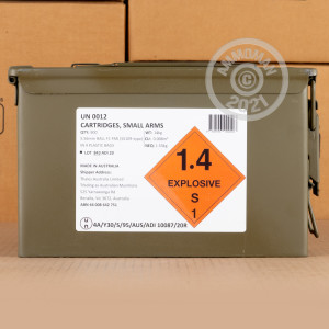 An image of 5.56x45mm ammo made by Australian Defense Industries at AmmoMan.com.