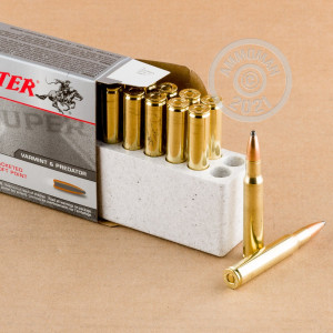 A photograph of 20 rounds of 125 grain 30.06 Springfield ammo with a soft point bullet for sale.