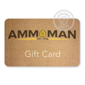 Photograph showing detail of $50 Gift Card for Shooters and Hunters