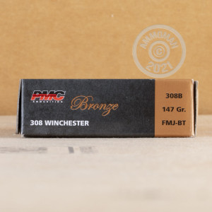 A photo of a box of PMC ammo in 308 / 7.62x51.