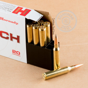 Image of the 338 LAPUA MAGNUM HORNADY MATCH 250 GRAIN HPBT (20 ROUNDS) available at AmmoMan.com.
