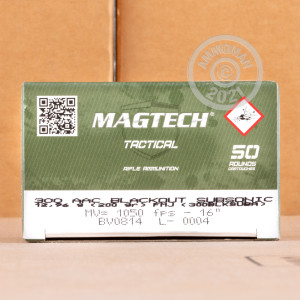 Photo detailing the 300 AAC BLACKOUT MAGTECH SUBSONIC 200 GRAIN FMJ (500 ROUNDS) for sale at AmmoMan.com.
