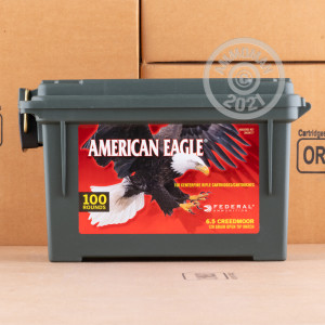 Image of 6.5 CREEDMOOR FEDERAL AMERICAN EAGLE AMMO CAN 120 GRAIN OTM (100 ROUNDS)