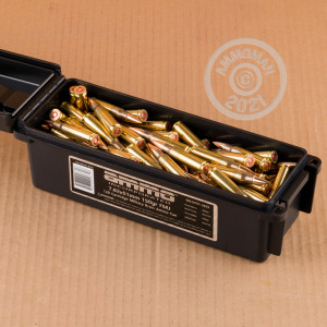 A photo of a box of Ammo Incorporated ammo in 308 / 7.62x51 that's often used for training at the range.