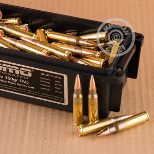 Image of bulk 308 / 7.62x51 ammo by Ammo Incorporated that's ideal for training at the range.