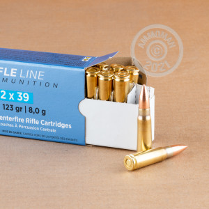 Image of 7.62 x 39 ammo by Prvi Partizan that's ideal for training at the range.