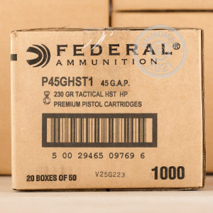 A photo of a box of Federal ammo in .45 GAP.