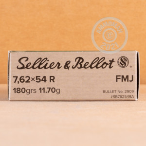 Photo of 7.62 x 54R FMJ ammo by Sellier & Bellot for sale.