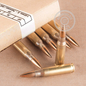 Image of bulk 308 / 7.62x51 rifle ammunition at AmmoMan.com that's perfect for training at the range.