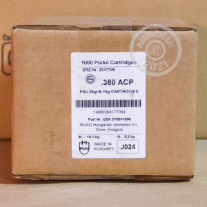 Photo of .380 Auto FMJ ammo by GECO for sale at AmmoMan.com.