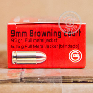 An image of .380 Auto ammo made by GECO at AmmoMan.com.