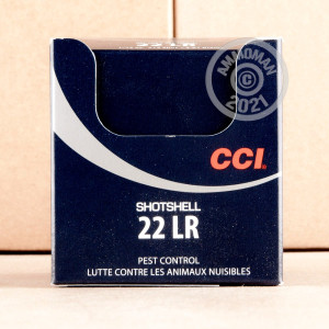 rounds of .22 Long Rifle ammo with #12 shot bullets made by CCI.