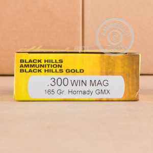 A photo of a box of Black Hills Ammunition ammo in 300 Winchester Magnum.