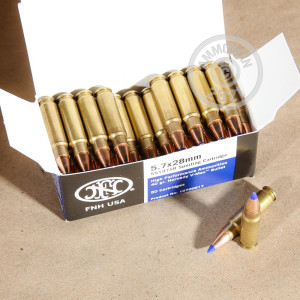 Image of FN Herstal 5.7 x 28 rifle ammunition.