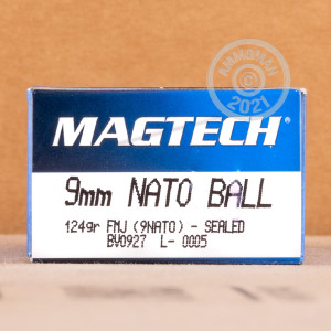 Image of 9mm Luger ammo by Magtech that's ideal for training at the range.