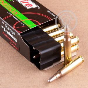 A photograph detailing the 223 Remington ammo with frangible bullets made by SinterFire.