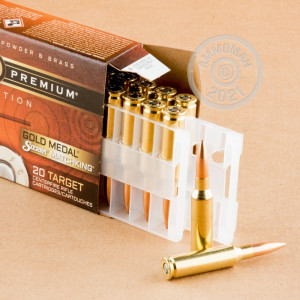 Photograph showing detail of 6.5 CREEDMOOR FEDERAL GOLD MEDAL 140 GRAIN MATCHKING HPBT (20 ROUNDS)
