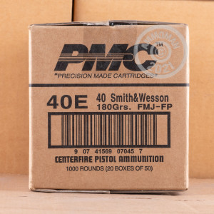 Image of .40 Smith & Wesson ammo by PMC that's ideal for training at the range.