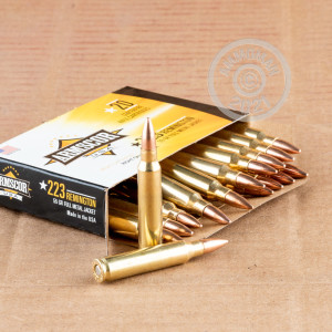 Image detailing the brass case on the Armscor ammunition.