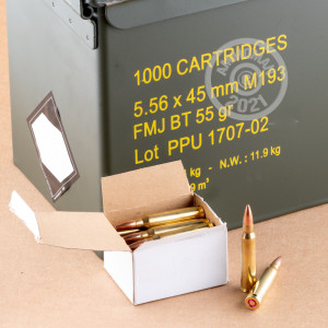 Image of 5.56x45mm ammo by Prvi Partizan that's ideal for training at the range.