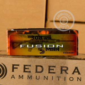 Image of 308 / 7.62x51 ammo by Federal that's ideal for whitetail hunting.