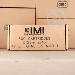 Photo of 5.56x45mm Open Tip Match ammo by Israeli Military Industries for sale.